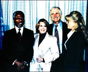 Photo: Kofi Annan, Barbara Pyle, Ted Turner and Jane Fonda
