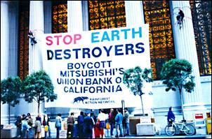 Photo: Rainforest Action Mitsubishi Protest
