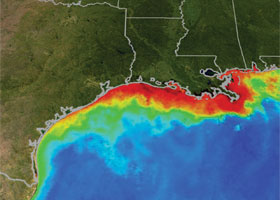 dead zone © NASA/NOAA