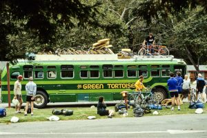 "Green Tortoise Bus. Credit"" Velodenz, FlickrCC"