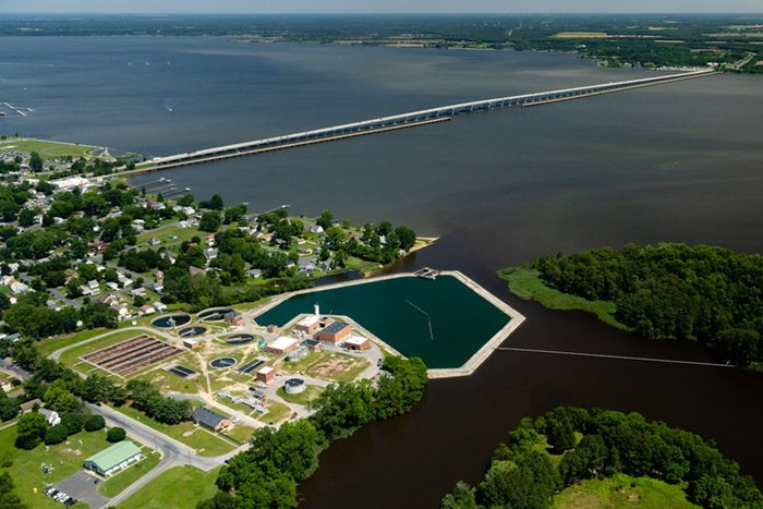 Cambridge Waste Water Plant in Dorchester County, Md.