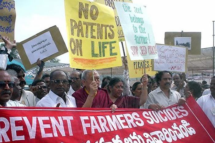 Preventing farmer suicides protests