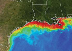dead zone © NASA/NOAA
